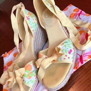 Lilly Pulitzer Espadrille Floral Wedges💕